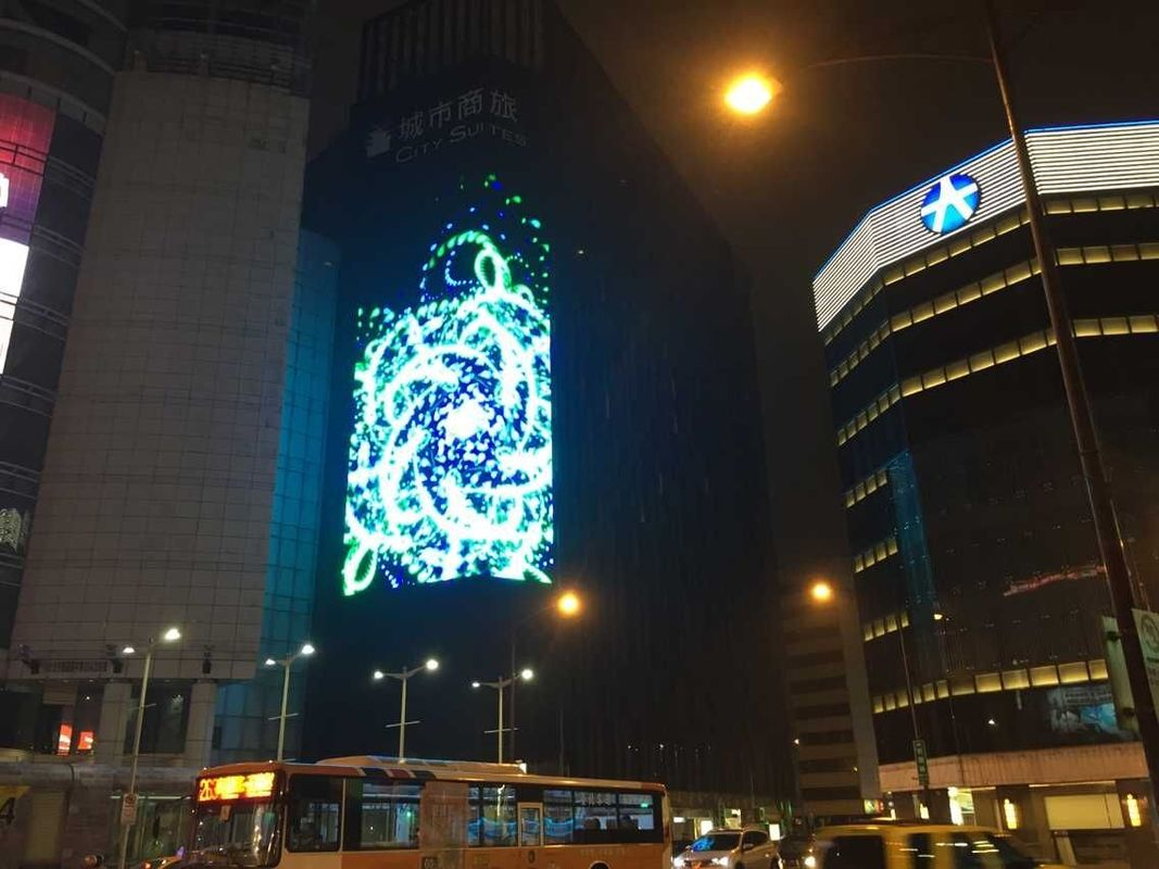 7000CD DIP RGB 346 LED Media Facade , Building LED Advertising Boards Waterproof IP65