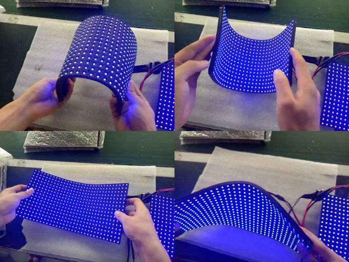 Soft Flexible Led Micro Display Screen P2 P2.5 P3 P4 P5 240x120mm Mesh Curtain Curved