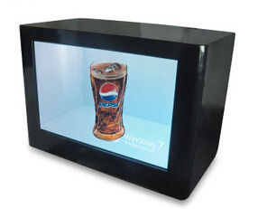 Digital Signage LCD Video Wall Advertising Transparent Touch Screen Monitor Showcase Box